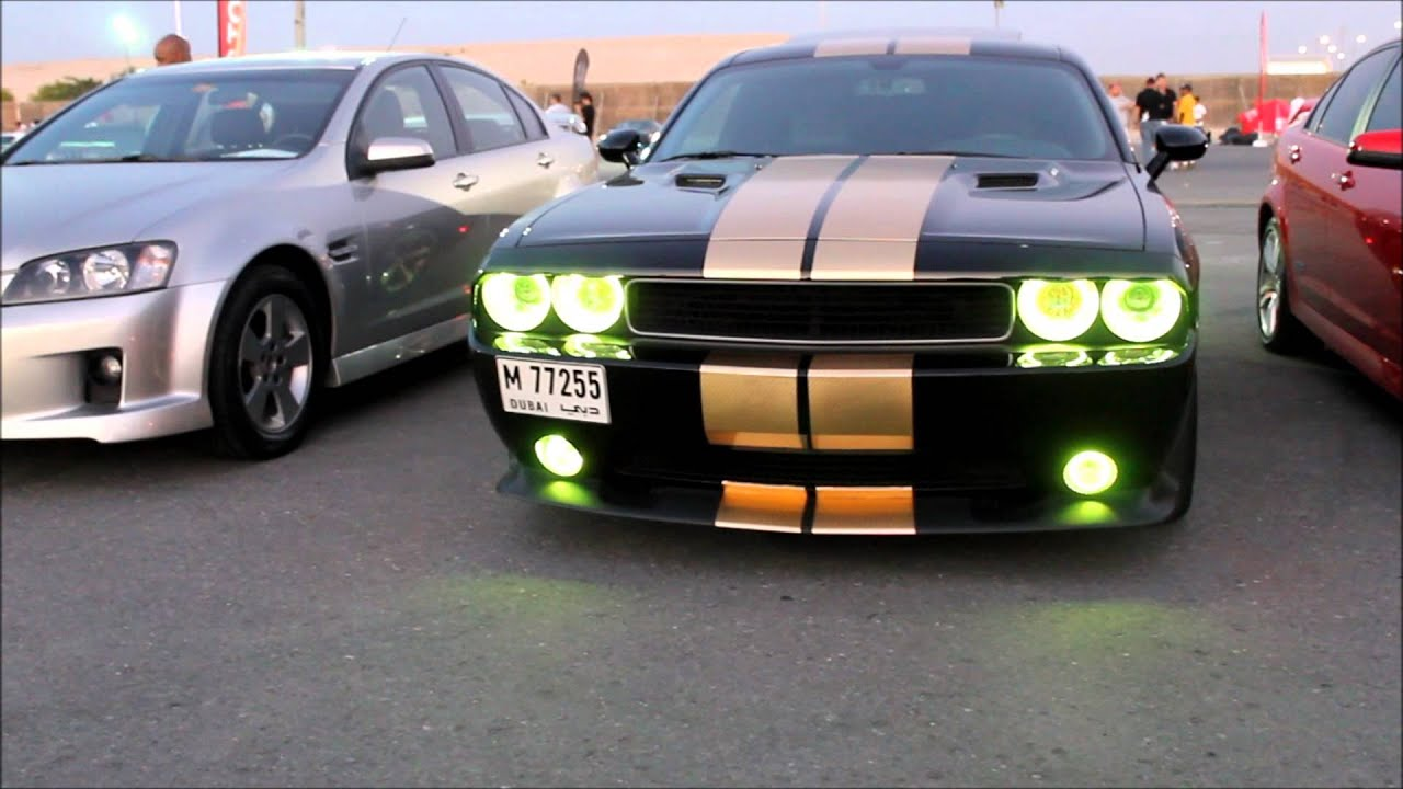 2012 Dodge Challenger Angel Eyes Lights Changing Youtube