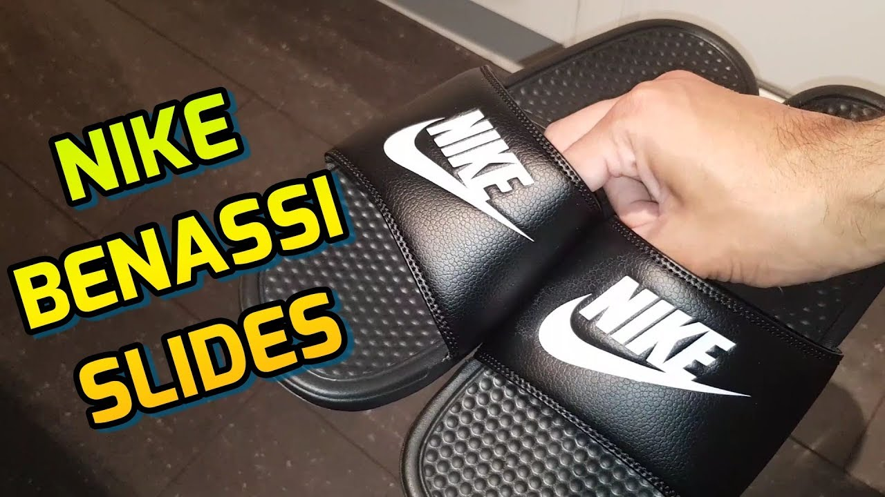 best sneakers 38011 06678 Nike Benassi Slides Unboxing And Review