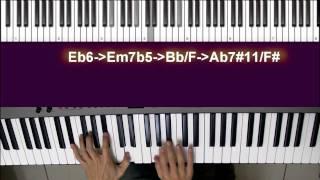 Jazz Piano/Keyboard Lesson爵士鋼琴/鍵盤教學-平安夜-Silent Night-平行和聲應用