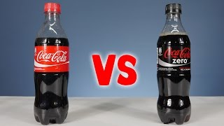 Coca Cola vs Coca Cola Zero - Science Experiments with Coca-Cola by Home Science