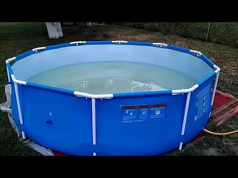 Как разобрать каркасный бассейн на зиму
