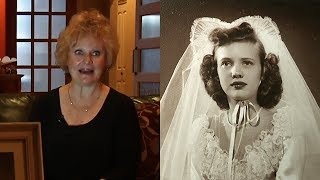 woman finds mother's wedding dress