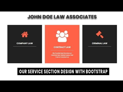 Responsive Our Service Section Design With Html Css And Bootstrap | Website Design Tutorial