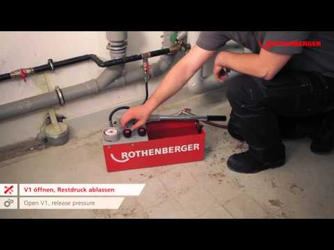 Rothenberger RP50 S – Pressure Testing Pump 6.1004