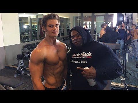 IFBB Pro Bodybuilder Kai Greene Chest Workout w/ Pro Mens Physique Jeff Seid & Alon Gabbay