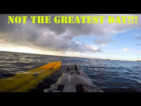 !!! SINKING KAYAK OFFSHORE RESCUE BY FRIENDS,BSO AND TOW BOAT US!!!