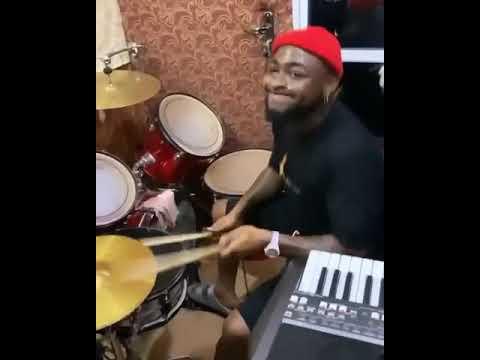 Davido Show Off His Drumming Skills in a Church In Asaba, Nigeria. VIDEO