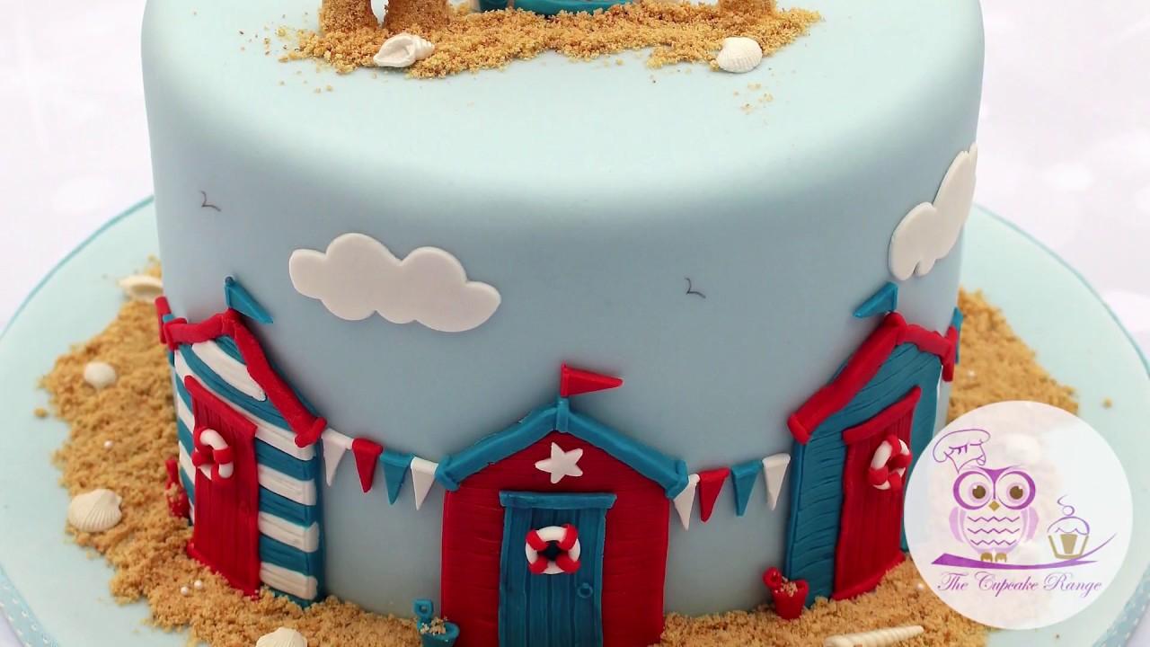 Beach Hut Birthday Cake