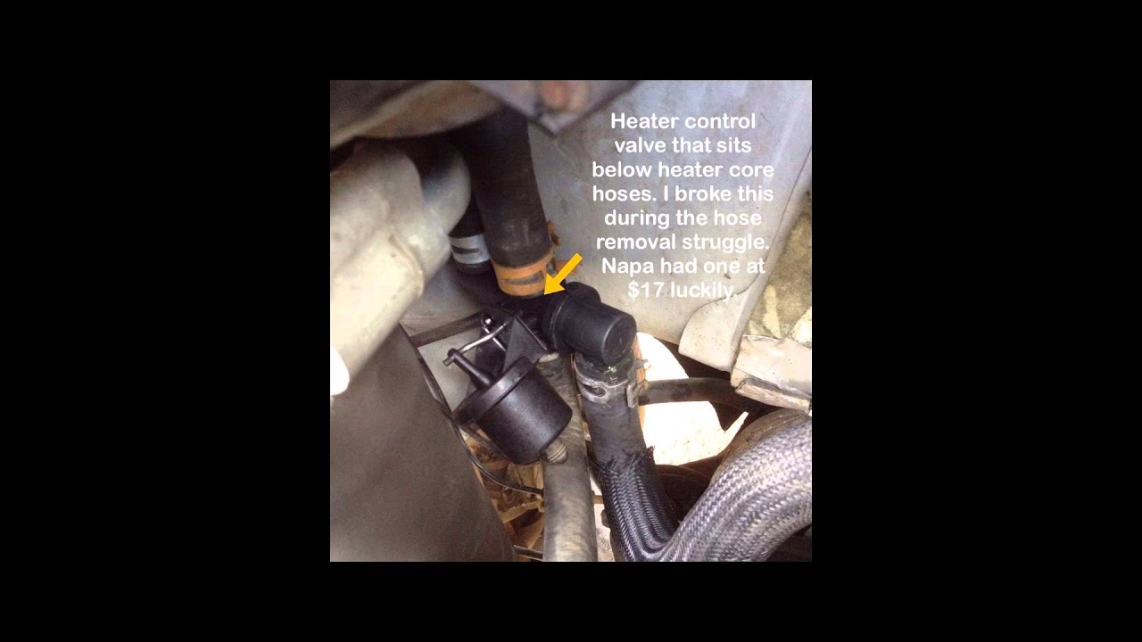 Chevy Expres Van Heater Core Replacement  why is my car s