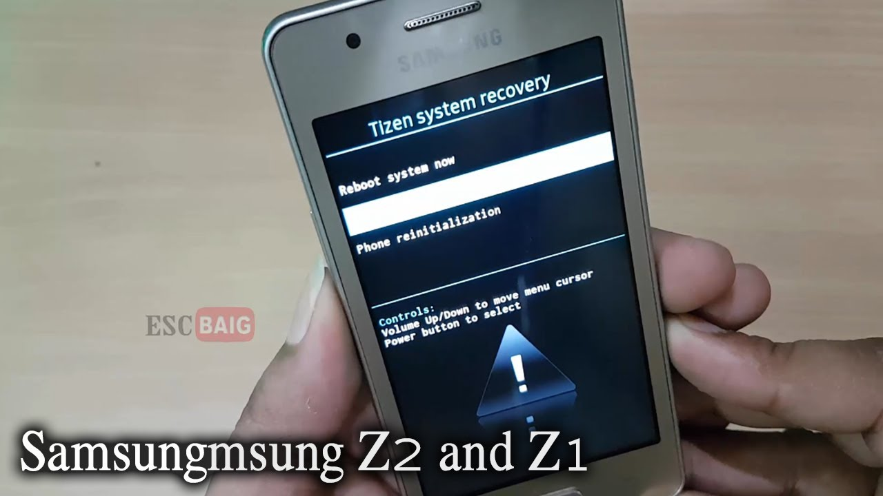 Samsung Z2 4g Voice Hard Reset Fix Forgot Screen Lock