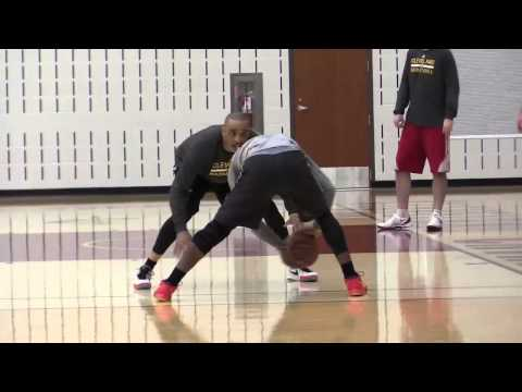 Cavaliers Kyrie Irving on the practice court after sitting out Game 3 of Eastern Conference Finals