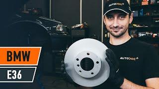 Fitting Brake rotors set BMW 3 (E36): free video