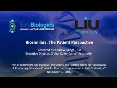 LIU-Pharmacy CE Course, 11/13/16 Part III: Patient Perspective