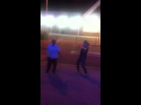 Drunks dancing out front of Tassie tav port Augusta