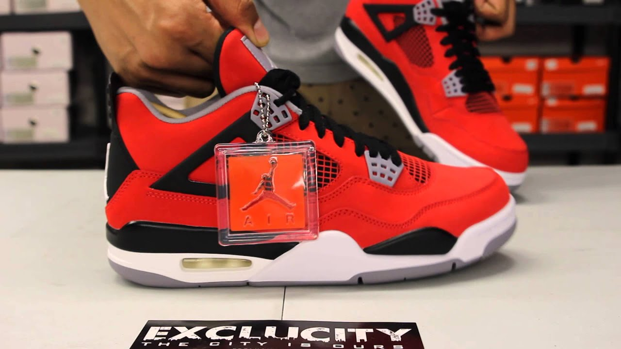 air jordan retro 4 toro bravo red unboxing