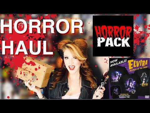 HorrorPack Unboxing & Elvira Fright Rags & First Horror & Halloween Haul of 2017