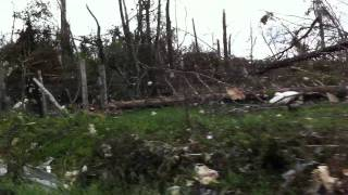 Some Tornado Damage on New Harmony Road, Bledsoe County TN