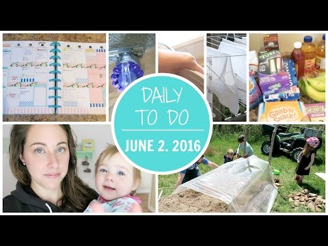 Daily To Do - Housework/Groceries/Socializing   Thursday June 2.  2016