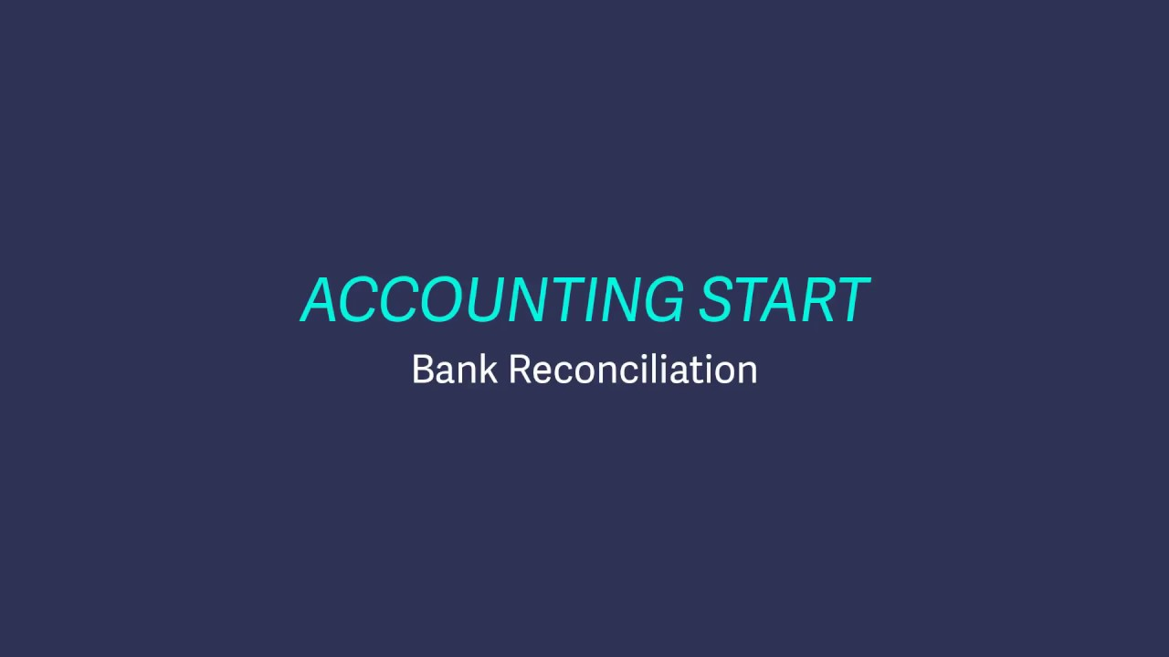 Sage Business Cloud Accounting Start - Bank reconciliation