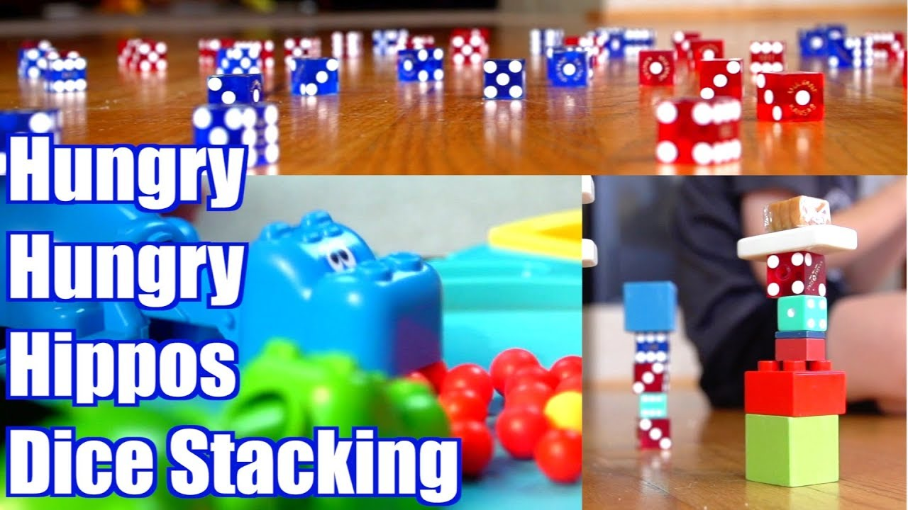 Sibling Rivalry Hungry Hungry Hippos Dice Stacking Trick Shot Titus