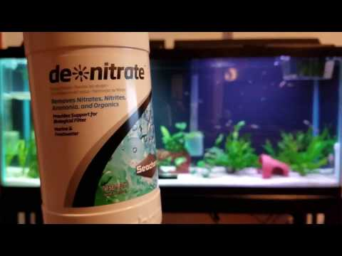how to remove Nitrates from freshwater aquarium with seachem de nitrate