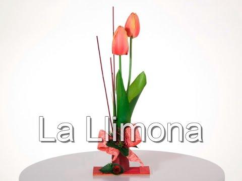 Arreglos Florales Arreglo Floral Tulipanes Artificiales Cereza 31 La Llimona
