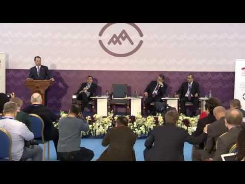Vigen Sargsyan at the International media forum in Yerevan ahead of the Armenian Genocide Centennial