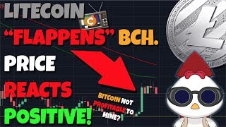 """Litecoin """"FLAPPENS"""" Bitcoin Cash Cont.  - Bitcoin Price Falls Below Cost To Mine..."""