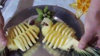 Птица ананас(Как можно красиво порезать ананас и подать к столу ., 2016-04-13T15:45:12.000Z)