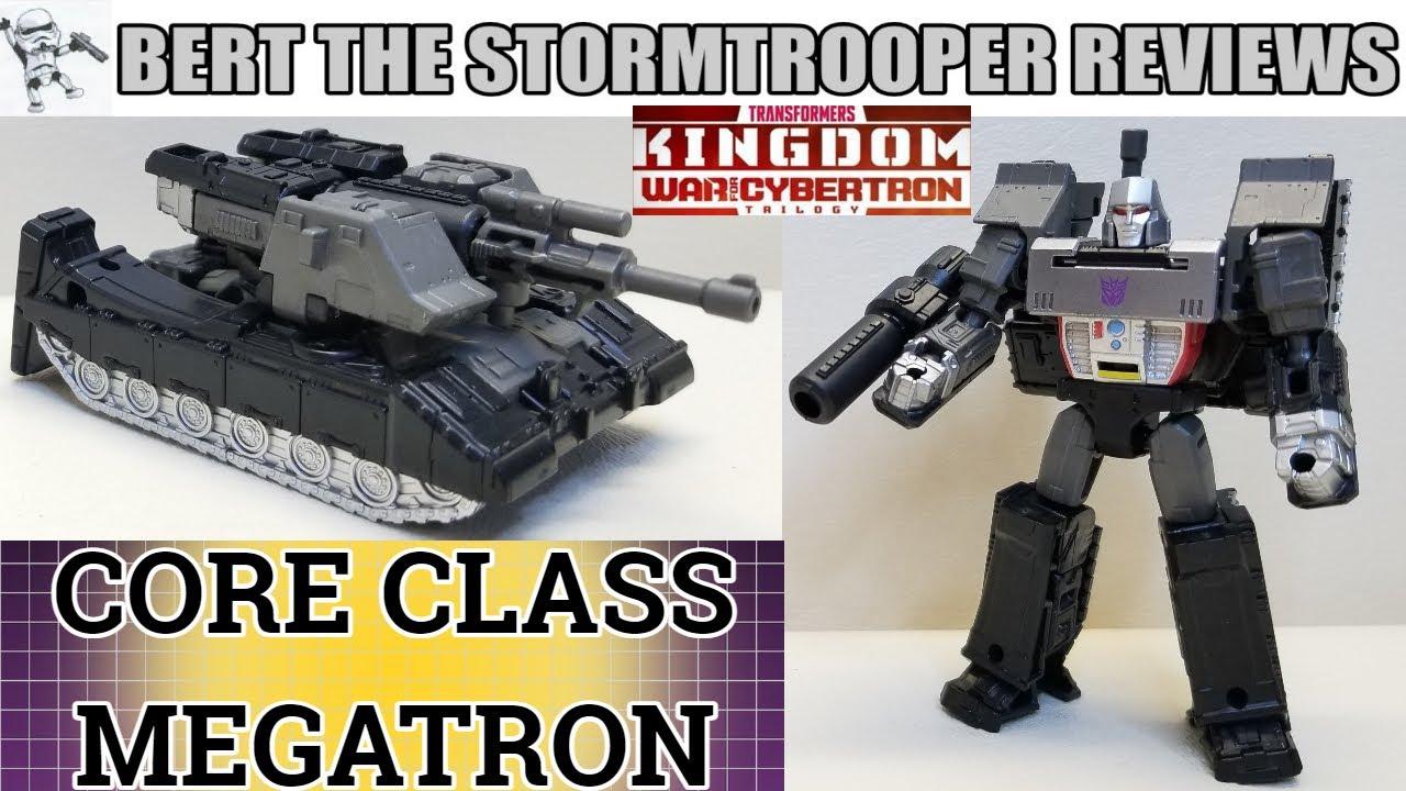 War for Cybertron KINGDOM, Core Class MEGATRON Review by Bert the Stormtrooper!