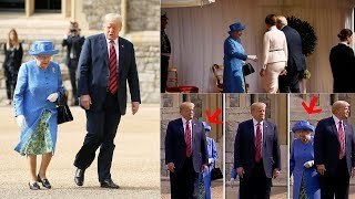 How Donald Trump BREAKS Royal protocol as US President BLOCKS OUT the Queen
