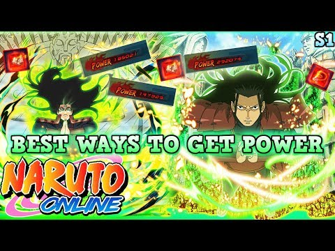 NARUTO ONLINE 4.0 BEST/FASTEST WAYS TO GET POWER