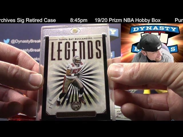 2020 Legacy Football Card 6 Box Half Case Break #7   Sports Cards