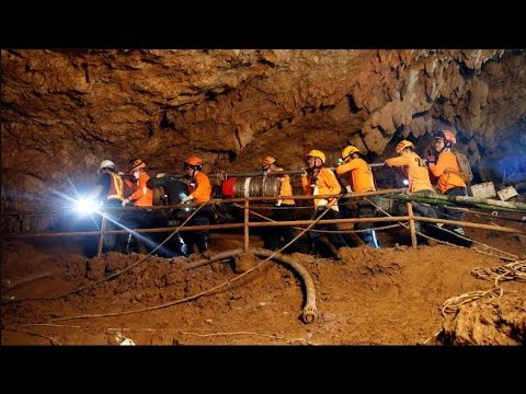 Unseen Videos Thailand cave rescue