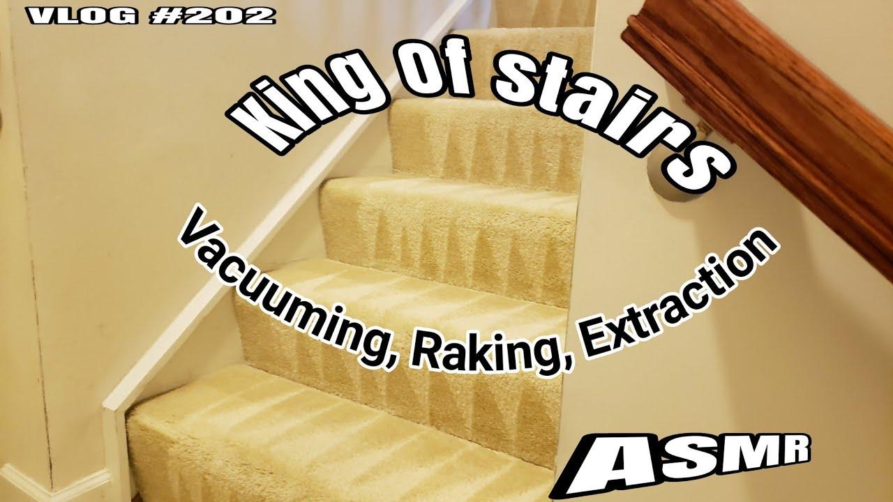 ASMR Alert🙃! King Of Stairs  Carpet cleaning vlog Episode 202
