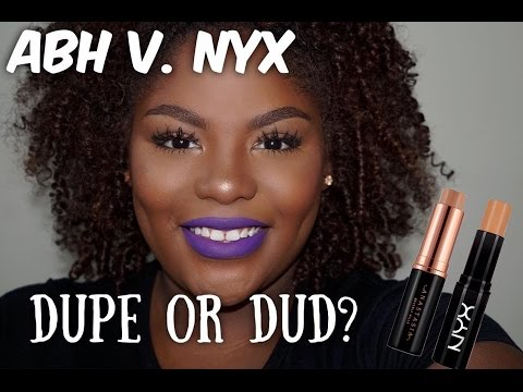 Dupe Or Dud Abh Stick Foundation Vs Nyx Mineral Stick Foundation