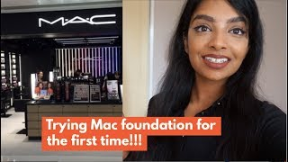 VLOG Trying out MAC Foundation for the First Time | Nivii06