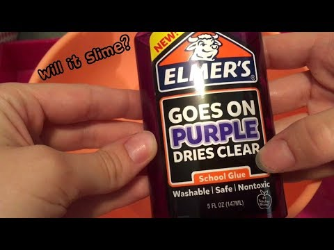 Will It Slime? Elmer's Purple/Clear School Glue