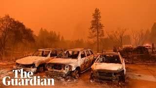 Wildfires rage in California: 'a massive wall of fire' thumbnail