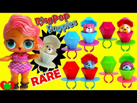 Ring Pop Puppies Rare Find LOL Pearl Limited Edition Treasure Game Toy Video