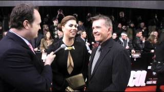 Alan Thicke and wife Tanya Callau arrive at the Mission Impossible 4 Premiere with Brad Blanks
