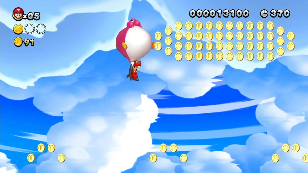 New Super Mario Bros. U -- Balloon Baby Yoshi Super Play