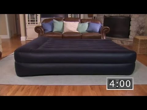 Intex Pillow Rest Raised Airbed with Built in Pillow and Electric ...