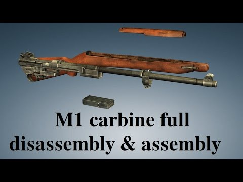 M1 carbine: full disembly & embly - YouTube on