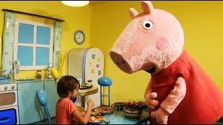 SUPER CASA DI PEPPA PIG A LEOLANDIA 2018 : Parco Divertimento , giostre per bambini - Canale Nikita