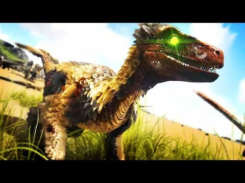 DEINONYCHUS ADDED! FEATHERED RAPTOR WITH LATCHING | Ark: Survival Evolved Modded