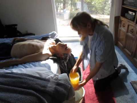 3 Quadriplegic Getting Hair Washed