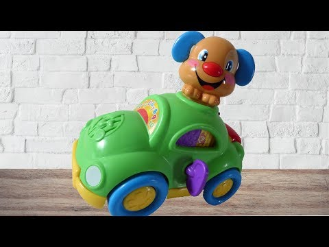Laugh and learn car. Laugh & learn toys Fisher price puppy's learning car .Sound toy for toddlers