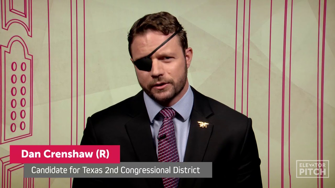 Dan Crenshaw is a former Navy SEAL and Republican candidate for US Congress for Texass 2nd congressional district Dan is passionate about securing our border