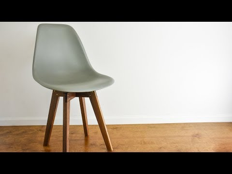 how to make a plywood chair desk office an eames base youtube